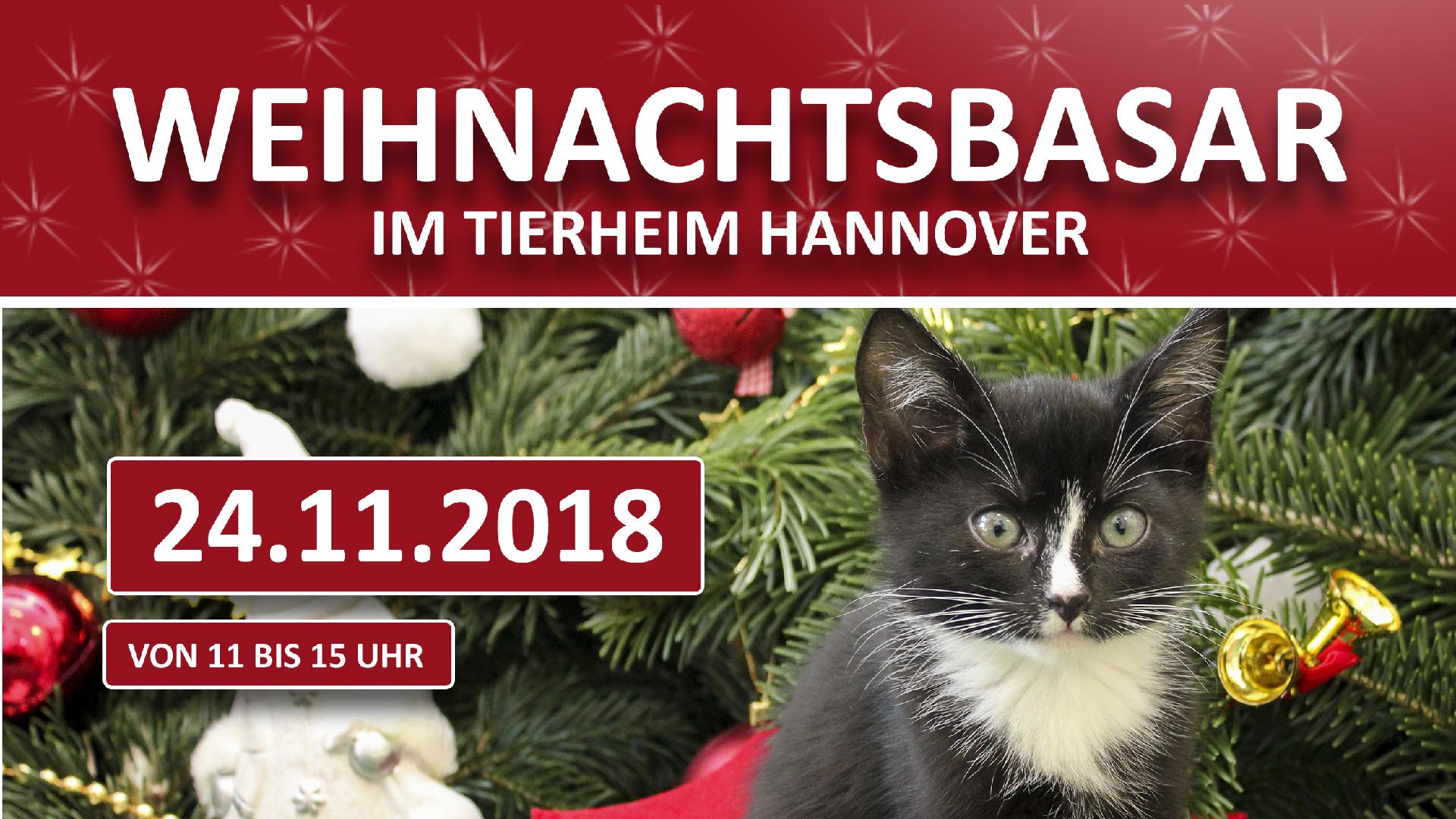 Logo vom Weihnachtsbasar des Tierheim Hannovers 2018